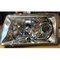 Фара левая тюнинг линзованная хрустальная прозрачная внутри хром