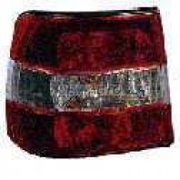 Фонарь задний внешний левый (СЕДАН) тюнинг прозрачный хрустальный красно-белый