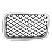 Решетка радиатора левая тюнинг диагональная сетка (Италия) хромированная-черная