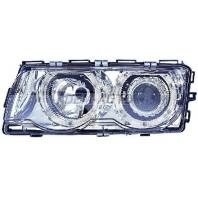 Фара+указатель поворота левая+правая (КОМПЛЕКТ) (КСЕНОН) с -D1S- с блоком управления ксеноном PHILIPS с регулирующим мотором тюнинг линзованная с 2 светящимися ободками хромированные