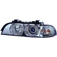 Фара левая+правая (КОМПЛЕКТ) тюнинг с светящимся ободком хрустальный указатель поворота с регулирующим мотором внутри хромированная