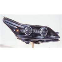 Фара левая+правая (КОМПЛЕКТ) тюнинг линзованная с 2 светящимися ободками с регулирующим мотором (SONAR) внутри черная