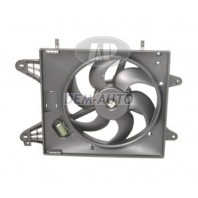 Мотор+вентилятор радиатора охлаждения 1.4 1.6 с кондиционером с корпусом