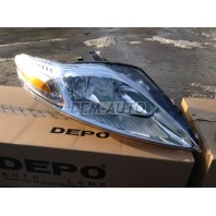 Фара правая с регулировочным мотором(DEPO)