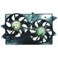 Мотор+вентилятор конденсатора кондиционера двухвентиляторный с корпусом автомат