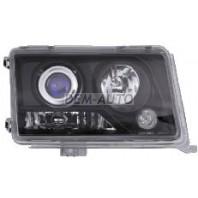 Фара левая+правая (комплект) тюнинг дизайн W220 прозрачная линзованная хрустальная внутри черная