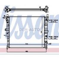 Радиатор охлаждения (NISSENS) (см.каталог)