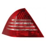 Фонарь задний внешний левый+правый (комплект) тюнинг с диодным стоп сигналом (EAGLE EYES) красно-белый