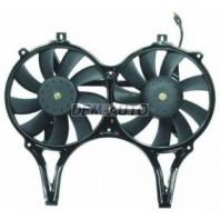 Мотор+вентилятор конденсатора кондиционера двухвентиляторный с корпусом