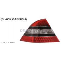 Фонарь задний внешний левый+правый (комплект) дизайн W221, полностью с диодами с черным молдингом красно-тонированный