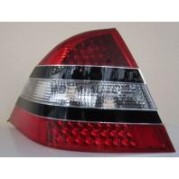 Фонарь задний внешний левый+правый (комплект) дизайн W221 полностью с диодами с черным молдингом красно-белый