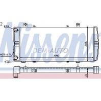 Радиатор охлаждения механика 1.6 (см.каталог)