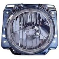 Фара левая+правая (комплект) тюнинг с светящимся ободком в сборе с креплением хрустальная внутри хром