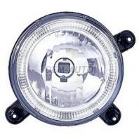 Фара левая+правая (комплект) тюнинг дальнего света с светящимся ободком в сборе с креплением хрустальная внутри хром