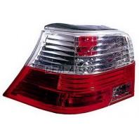 Фонарь задний внешний левый+правый (комплект) тюнинг прозрачный хрустальный с диодным стоп сигналом красно-белый