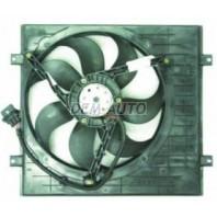{BORA} Мотор+вентилятор радиатора охлаждения 1.4 без кондиционера