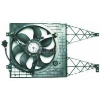 {BORA} Мотор+вентилятор радиатора охлаждения 1.6 1.8 2.3 с корпусом без кондиционера