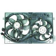 {BORA} Мотор+вентилятор радиатора охлаждения двухвентиляторный с корпусом с кондиционером