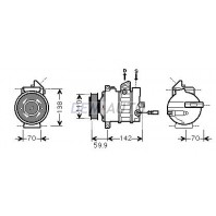 {Jetta 05-/Passat 05-/Octavia 04-/Touran 03-/A3 03-/Caddy 04-} Компрессор кондиционера (см.каталог) (AVA)