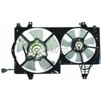 {V40} Мотор+вентилятор радиатора охлаждения двухвентиляторный с корпусом