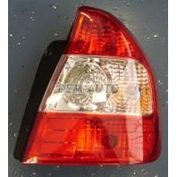 Фонарь задний внешний правый хрустальный красный-белый