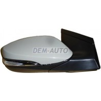 Зеркало правое электрическое с подогревом  автоскладывающееся, с указателем поворота, с подсветкой, 10 контактов (CONVEX) грунтованное