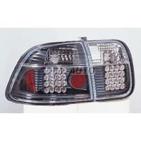 Фонарь задний внешний+внутренний, левый+правый (комплект), тюнинг (седан), прозрачный, с диодами (SONAR), внутри черно-хромированный