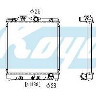 {+ HRV 98-} Радиатор охлаждения автомат 1.3 1.5 (1 ряд)