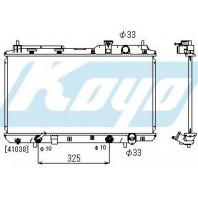 Радиатор охлаждения автомат2 (1 ряд) алюминиевый