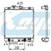 {+ HRV 98-} Радиатор охлаждения автомат 1.3 1.5 (KOYO)