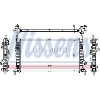 {+ FD FOCUS 05- / C-MAX 03-/ VV S40 04-} Радиатор охлаждения 1.3 1.6 2 (NISSENS) (AVA) (см.каталог)