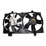 {LARGUS 12-/ALMERA 13-} Мотор+вентилятор радиатора охлаждения всборе с рамкой,без кондиционера (Китай)