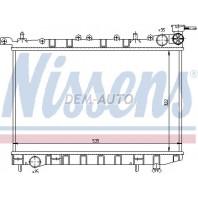 Радиатор охлаждение механика 1.4 1.6 1.8 на Nissan Almera - N15