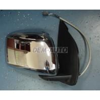 {NAVARA 06-} Зеркало правое электрическое (CONVEX) крышка хромированная