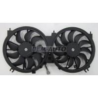 {2.5  3.5 + MURANO 09-} Мотор+вентилятор радиатора охлаждения двухвентиляторный (Китай)