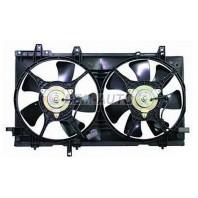 Мотор+вентилятор радиатора охлаждения с корпусом , двухвентиляторный , турбо 2.5