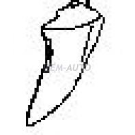 {+XL7} Боковина бампера передняя левая (USA) грунтованная