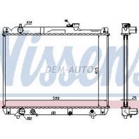 {+XL7} Радиатор охлаждения автомат 2.7 (2 ряд) (NISSENS) (AVA)
