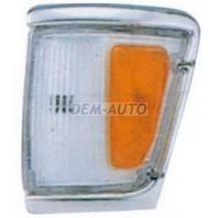 Указатель поворота угловой левый с хромом бело-желтый
