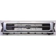 Решетка радиатора центральная хромированно-черная