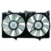 Мотор+вентилятор радиатора охлаждения двухвентиляторный с корпусом 6 цилиндров
