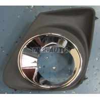 Решетка бампера передняя левая с отверстием под противотуманку хромированная (Китай)