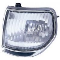 Указатель поворота угловой левый+правый (комплект) (DEPO) тюнинг прозрачный хрустальный с молдингом хромированным