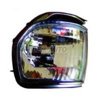 Указатель поворота угловой левый тюнинг прозрачный хрустальный с молдингом хромированным