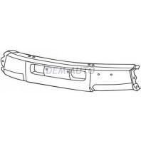{VX} Бампер передний центральный без отверстия под лебедку под молдинг черный {VX}