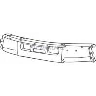 {STD} Бампер передний центральный с отверстием под лебедку под молдинг черный {STD}