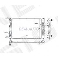 Радиатор охлаждения 1,6/1,8/1,9TDi/2,0/2,0TDi/2,3 MT