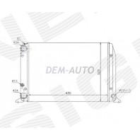 Радиатор охлаждения 1,4/1,6/1,8 MT