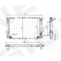 Радиатор охлаждения 2,6/2,8 AT