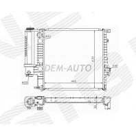 Радиатор охлаждения 1,6/1,8/2,0/2,3/2,5/2,8 MT/AT